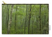 Vermont Mount Mansfield Green Forest Fog Panorama Carry-all Pouch