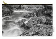 Vermont River Fog Mount Mansfield Black And White Carry-all Pouch