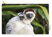 Verreauxs Sifaka With Baby Madagascar Carry-all Pouch