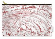 Vertical Panoramic Grunge Etching Burgundy Color Carry-all Pouch