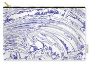 Vertical Panoramic Grunge Etching Royal Blue Color Carry-all Pouch