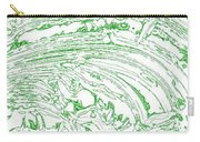 Vertical Panoramic Grunge Etching Sage Color Carry-all Pouch