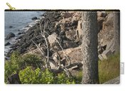 Vertical Photograph Of The Rocky Shore In Acadia National Park Carry-all Pouch
