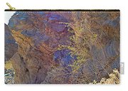 Vertical View Of Big Painted Canyon Trail In Mecca Hills-ca Carry-all Pouch