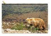 Very Light-colored Grizzly Bear In Moraine River In Katmai Nnp-ak Carry-all Pouch