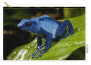 Very Tiny Blue Poison Dart Frog Carry-all Pouch