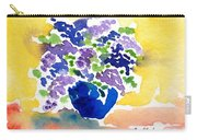 Vase With Lilas Flowers Carry-all Pouch