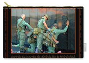 Veterans At Vietnam Wall Carry-all Pouch by Carolyn Marshall