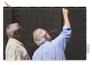 Veterans Look For A Fallen Soldier's Name On The Vietnam War Memorial Wall Carry-all Pouch