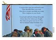 Veterans Remember Carry-all Pouch by Carolyn Marshall