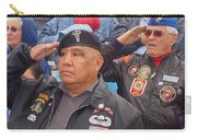 Veterans Saluting Passing Flag In A Parade Sacaton Arizona 2005-2013 Carry-all Pouch