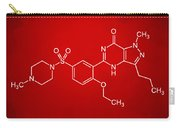 Viagra Molecular Structure Red Carry-all Pouch