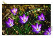 Vibrant Crocuses Carry-all Pouch by Karol Livote