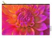 Vibrant Dahlia Flower Carry-all Pouch