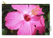 Vibrant Pink Hibiscus Carry-all Pouch