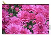 Vibrant Pink Mums Carry-all Pouch