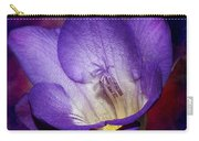 Vibrant Purple Flower Carry-all Pouch