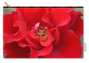 Vibrantly Red Rose Carry-all Pouch