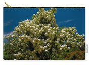Viburnum Opulus Compactum Bush With White Flowers Carry-all Pouch