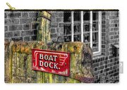 Victorian Boat Dock Sign Carry-all Pouch by Adrian Evans