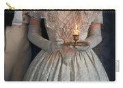 Victorian Couple At Night With Candle Carry-all Pouch