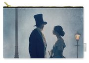 Victorian Couple At Nighttime Under Gas Lights  Carry-all Pouch