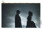 Victorian Couple Face On Another Before A Stormy Sky Carry-all Pouch