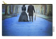 Victorian Couple In The Park At Dusk Carry-all Pouch
