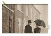 Victorian Couple On A Cobbled Street Carry-all Pouch
