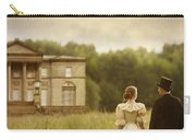 Victorian Couple Walking Towards A Country Manor House Carry-all Pouch