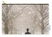 Victorian Gentleman In Snow Carry-all Pouch