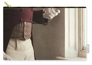 Victorian Gentleman Looking At His Pocket Watch Carry-all Pouch