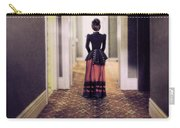 Victorian Lady In Hallway Carry-all Pouch