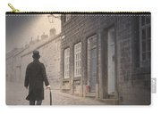Victorian Man On A Cobbled Street Carry-all Pouch