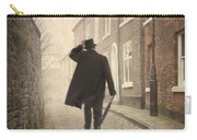 Victorian Man Running On A Cobbled Road Carry-all Pouch