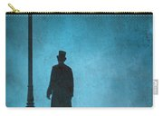 Victorian Man Standing Next To An Illuminated Gas Lamp Carry-all Pouch by Lee Avison