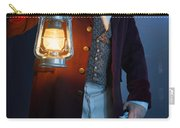 Victorian Man With Lantern At Night Carry-all Pouch