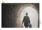 Victorian Man With Top Hat And Case Walking Under A Bridge Carry-all Pouch