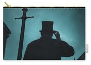 Victorian Man With Top Hat Under A Gas Lamp Carry-all Pouch