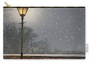 Victorian Street Lamp In Snow Carry-all Pouch