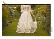 Victorian Woman In A Formal Garden Carry-all Pouch