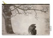 Victorian Woman In Snow Storm Carry-all Pouch