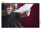 Victorian Woman Reading A Letter By Candle Light Carry-all Pouch
