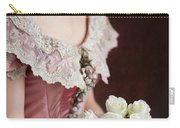 Victorian Woman With Roses Carry-all Pouch