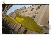 Vienna Street Life - Cheery Yellow Umbrellas At An Outdoor Cafe Carry-all Pouch