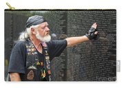 Vietnam Veteran Pays Respect To Fallen Soldiers At The Vietnam War Memorial  Carry-all Pouch