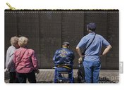 Vietnam Veterans Paying Respect To Fallen Soldiers At The Vietnam War Memorial Carry-all Pouch