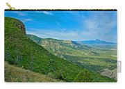 View From Knife Edge Road Overlooking Montezuma Valley In Mesa Verde National Park-colorado   Carry-all Pouch