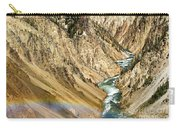 View From Lower Falls Of The Yellowstone River  Carry-all Pouch