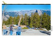 View From Near The Top Of Sentinel Dome In Yosemite Np-ca Carry-all Pouch